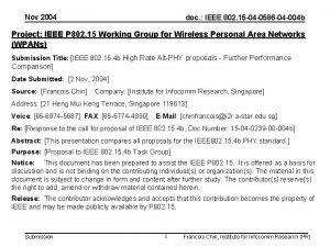 Nov 2004 doc IEEE 802 15 04 0586