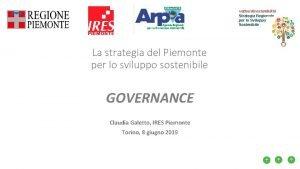 vettoridisostenibilit Strategia Regionale per lo Sviluppo Sostenibile La