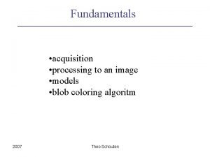 Fundamentals acquisition processing to an image models blob
