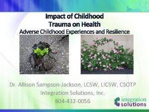 Impact of Childhood Trauma on Health Adverse Childhood