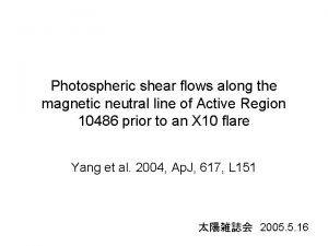 Photospheric shear flows along the magnetic neutral line
