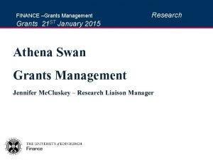 FINANCE Grants Management Research Grants 21 ST January