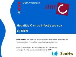 Hepatitis C virus infectie als soa bij MSM