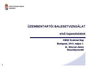 ZEMBENTARTI BALESETVIZSGLAT els tapasztalatok KBSZ Szakmai Nap Budapest