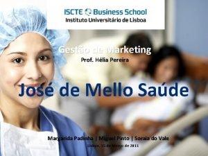 V Gesto de Marketing Prof Hlia Pereira Jos