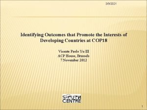 392021 Identifying Outcomes that Promote the Interests of