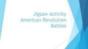 Jigsaw Activity American Revolution Battles Battle of Long