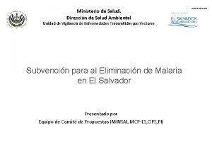 Ministerio de Salud Direccin de Salud Ambiental Unidad