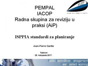 PEMPAL IACOP Radna skupina za reviziju u praksi