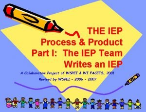 THE IEP Process Product Part I The IEP