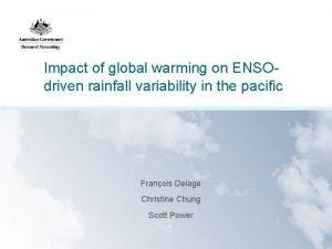 Impact of global warming on ENSOdriven rainfall variability