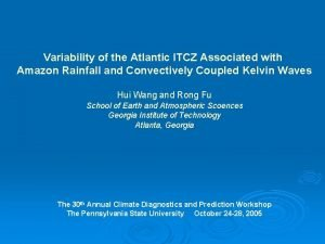 Variability of the Atlantic ITCZ Associated with Amazon