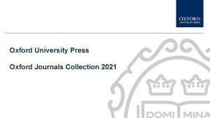 Oxford University Press Oxford Journals Collection 2021 Subject