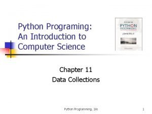 Python Programing An Introduction to Computer Science Chapter