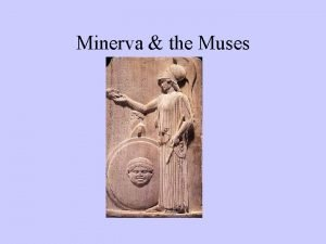 Minerva the Muses Calliope tells story of Ceres