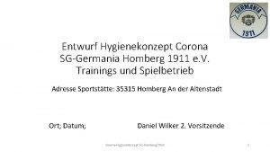 Entwurf Hygienekonzept Corona SGGermania Homberg 1911 e V