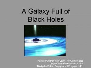 A Galaxy Full of Black Holes HarvardSmithsonian Center