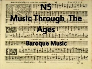 N 5 Music Through The Ages Baroque Music
