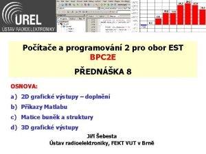 Potae a programovn 2 pro obor EST BPC