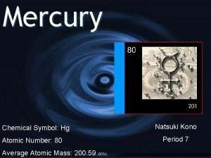 Mercury Chemical Symbol Hg Atomic Number 80 Average