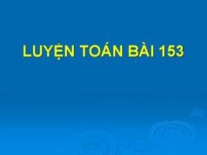 LUYN TON BI 153 Luyn ton PHP NH