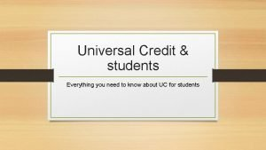 Universal Credit students Everything you need to know