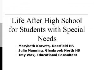 Life After High School for Students with Special