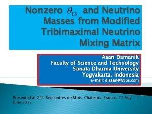 Nonzero and Neutrino Masses from Modified Tribimaximal Neutrino