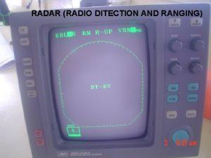 RADAR RADIO DITECTION AND RANGING RADAR Pengenalan umum