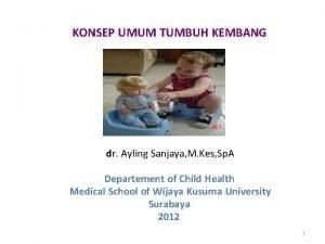 KONSEP UMUM TUMBUH KEMBANG dr Ayling Sanjaya M