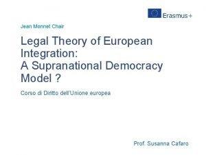 Jean Monnet Chair Legal Theory of European Integration