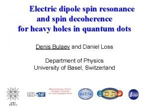 Electric dipole spin resonance and spin decoherence for