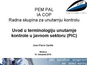 PEM PAL IA COP Radna skupina za unutarnju