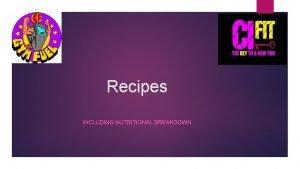 Recipes INCLUDING NUTRITIONAL BREAKDOWN Turkey Taco Fries Sweet