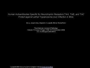 Human Autoantibodies Specific for Neurotrophin Receptors Trk A