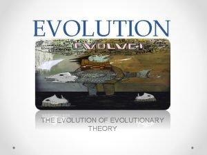 EVOLUTION THE EVOLUTION OF EVOLUTIONARY THEORY BEFORE DARWIN