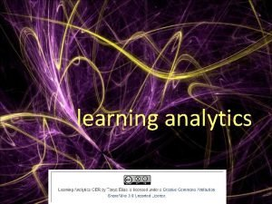 learning analytics what are learning analytics related fields