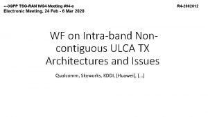 3 GPP TSG RAN WG 4 Meeting 94