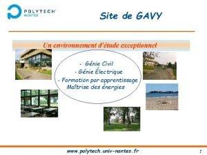 Site de GAVY Gnie Civil Gnie lectrique Formation