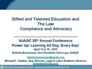 Gifted and Talented Education and The Law Compliance