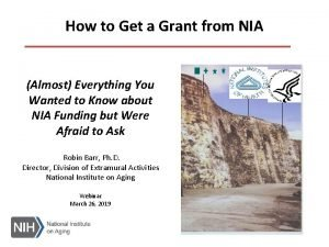 How to Get a Grant from NIA Almost