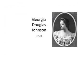 Georgia Douglas Johnson Poet Who Georgia Blanche Douglas