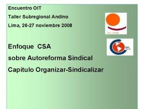 Encuentro OIT Taller Subregional Andino Lima 26 27