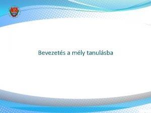 Bevezets a mly tanulsba Adatmennyisg problma Jl mkd
