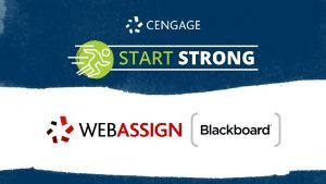 Start Strong Web Assign with Blackboard Iowa State