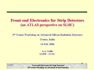 Frontend Electronics for Strip Detectors an ATLAS perspective