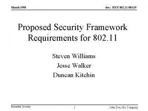 Month 1998 doc IEEE 802 11 00119 Proposed