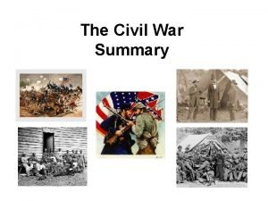 The Civil War Summary LongTerm Causes Conflict over