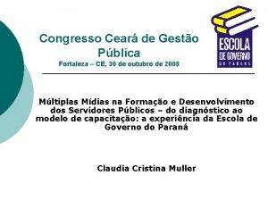 Congresso Cear de Gesto Pblica Fortaleza CE 30
