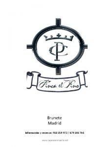 Brunete Madrid Informacin y reservas 918 159 972